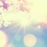 bright sun with glare