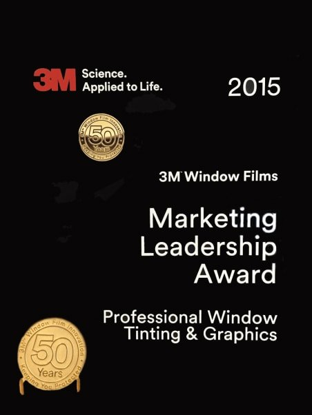 professional window tinting won the 3m marketing leadership award