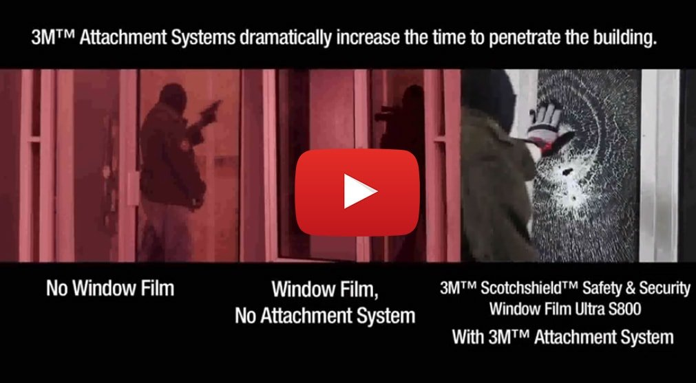 3M Security Window Film with IPA Attachment system